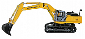Herpa HO 6504 New Holland E 485 B Excavator