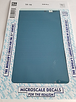 Microscale TF-16 - Trim Film - B&M Blue 4½ in x 7½ inch sheet - Waterslide Decal
