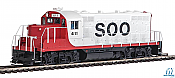 Walthers Mainline 20429 - HO EMD GP9 Phase 2 w/Chopped Nose - DCC/Sound - Soo Line #2411