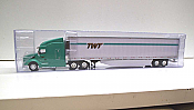 Trucks n Stuff TNS114 - HO Peterbilt 579 Sleeper-Cab Tractor - 53ft Reefer Trailer - TWT