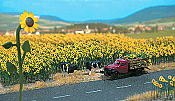 Busch 6003 HO Sunflower Field - Parts for 60 Flowers w/Bases