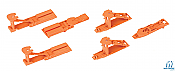 Walthers Proto 6060 HO Trailer Hitch Accessory Pack Pullman Standard and ACF Hitches