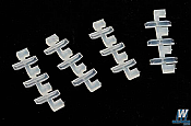 Peco SL311 - N scale Universal Rail Joiners - Code 55/80 - Nylon Insulating (12pcs)