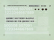 Microdcale MC-4250 HO Decal Railroad - Assorted Shortlines - Quebec Southern Hood Unit Diesels (1996+)