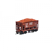 Athearn RND87152 HO - 24Ft Ribbed Ore Car w/Load - Canadian National #123077