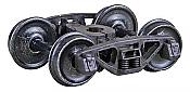 Kadee 562 HO A.S.F. Ride Control 50-Ton Self-Centering HGC Trucks Code 110 - .110 inch - 33 inch Smooth-Back RP-25 Wheels 1 Pair