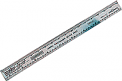 "Mascot Precision Tools - Scale Ruler - 12"" Railroad Scale Stainless Steel Ruler for HO, N, O and S Scales"