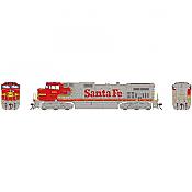 Athearn G31627 HO Scale - G2 Dash 9-44CW - DCC & Sound - Santa Fe #644