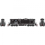 Athearn Genesis G82202 HO Scale - GP7 Diesel, Single Units, DCC/ Ready - ATSF Zebra Stripe #2792A