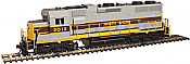 Atlas Model Railroad Co. 10002409 HO Scale EMD GP38 Low Nose w/Sound & DCC - Master(R) Gold -- North Shore (Gray/Yellow/Maroon) #2017  150-10002409