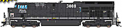 Intermountain 497112S-01 - HO ET44 Tier 4 - DCC & Sound - CN Heritage/Illinois Central #3008