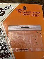 Sequoia Scale Models 5004 HO Scale - Marker Jewels - 1 Dozen Green