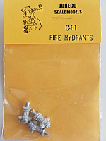 Juneco Scale Models C-61 Fire Hydrant (3/pkg)