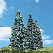 Woodland Scenics 3566 - All Scale Classic Trees - Ready Made - Blue Needle 2-1/2-4inch (5 pkg)