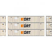 Athearn RTR 72774 - HO 53ft Stoughton Container - DRT (3pk)
