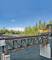 Walthers Cornerstone 4520 HO 109 FT Single-Track Pratt Deck Truss Railroad Bridge