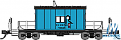 Bluford Shops 34360 HO Scale Transfer Caboose Rock Island Blue #19138