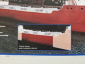 Sylvan Scale Models 10502 HO Scale - Center Hull & Deck Extension for Great Lakes Ore Boat Kit - Unpainted and Resin Cast