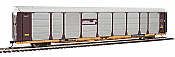 WalthersProto 101332 HO - 89ft Thrall Bi-Level Auto Carrier - Ready To Run - Conrail Rack, TTGX Flatcar #158786