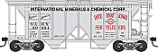 Bowser HO 42232 70-Ton 2-Bay Coverde Hopper with Open Sides -  International Minerals NAHX 30047