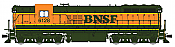 Broadway Limited Imports HO 4245 EMD SD9, BNSF #6132 Heritage Scheme, - w/Paragon3 Sound/DC/DCC