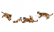 Woodland Scenics 1949 - HO Scenic Accents - Cougars and Cubs (6pcs)