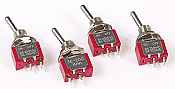 Miniatronics - 3620004 Toggle Switch -  ON-OFF 2 Position SPST Latching Toggle Switch AC 125V/6A - 4pcs