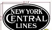 Stoddarts Ltd. NYCL - 3D Railroad Wall Artwork - New York Central - 1900 Lines - Logo