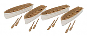 Walthers 4163 HO SceneMaster - Row Boat 4-Pack - Assembled
