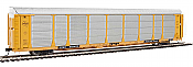 WalthersProto 101342 HO - 89ft Thrall Bi-Level Auto Carrier - Ready To Run - Milwaukee Road Rack, TTGX Flatcar #910272