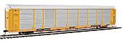 WalthersProto 101342 HO - 89ft Thrall Bi-Level Auto Carrier - Ready To Run - Milwaukee Road Rack, TTGX Flatcar #910272