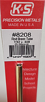 K&S Engineering 8208 All Scale - 7/32 inch OD Round Brass Tube - 0.029inch Thick x 12inch Long