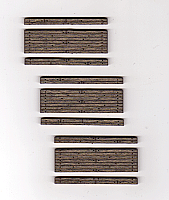 Blair Line 114 HO Rough-Cut 1-Lane Wood Grade Crossing - Stained - Kit