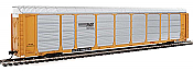 Walthers Proto 101427 - HO 89ft Thrall Enclosed Tri-Level Auto Carrier - Norfolk Southern/ETTX Flat #33943/802358