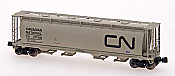 Intermountain Railway Z Scale Cylindrical Covered Hopper w/Round Hatches Assembled Canadian National (gray, black)