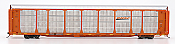 InterMountain 45275-03 HO - Bi-Level Auto Racks - BNSF New Image - Orange Rack on TTGX Flat Car #TTGX 965364