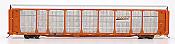 InterMountain 45275-06 HO - Bi-Level Auto Racks - BNSF New Image - Orange Rack on TTGX Flat Car #TTGX 978188