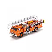 Athearn HO 91854  Ford C Telesqurt, Volunteer Fire Ladder Truck - County Fire/Orange #21