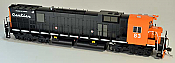 Bowser 24314 HO Executive Line Alco MLW M636 ESU LokSound & DCC Cartier #41 Black/Orange w/Added Air Filters