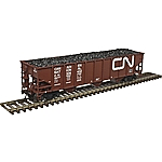 Atlas 20004901 HO AAR 70-Ton 9-Panel Hopper - Standard End Canadian National No.326209