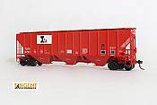 Tangent Scale Models HO 21024-01 - PS4427 High Side Covered Hopper - TLDX - Landmark 1977 Repaint #6797
