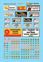Microscale 87256 HO Scale - Structure Signs - Industrial - Waterslide Decal