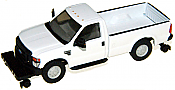 River Point Station 536505801 HO Ford F-350 XL SRW Pickup Truck w/Hy-Rail Wheels, Standard Cab - White