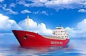 Sylvan Scale Models 2123 N Scale - Modern Container Ship Kit - MV Manchester Mercurio