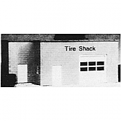 Pikestuff 5003 HO KB Tire Shack Building