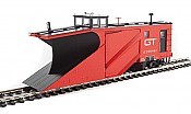 WalthersProto 110025 HO - Russell Snowplow - Ready to Run - Grand Trunk Western #55461 (red, black)