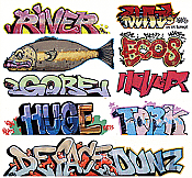 Blair Line 2256 HO Scale - Graffiti Decals Mega Set - Set #7