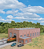 Walthers 3266 N Scale Cornerstone Two-Stall 130 Ft Brick Diesel House