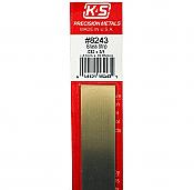 K&S Engineering 8243 All Scale - Brass Strip - 12inch x 3/4inch x .032inch