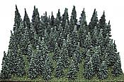 "Heki Mini Forest Assorted Pine Trees -  1-1/2 - 3"" 3.8-7.6cm"